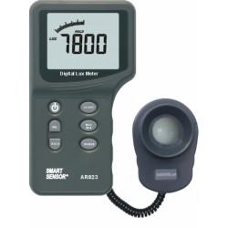 Люксметр цифровой с выносным датчиком, диапазон 1-200000 люкс AR823