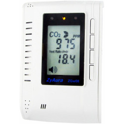 Газоанализатор, монитор-контроллер СО2 и температуры настенный ZGw08PR