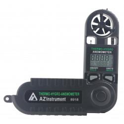Складной термоанемометр, гигрометр AZ8918