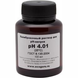 Калибровочный буферный раствор pH 4.01 для рH метров